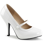 Mary Jane Pump - White