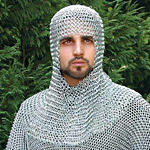 Chainmail Coifs, Chain Mail Coifs and Chainmail Voiders, head protection, Mail Skirts