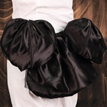 Black Satin Bustle 101562