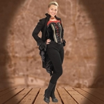 Black Steampunk Stretch Pant 101375
