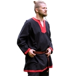 Basic Medieval Tunic - Black/Red