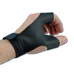 Archery Bow Gloves - Black Leather