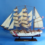USCG Training Tall Ship Eagle - Wooden Model 24in