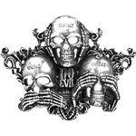 No Evil Pewter Belt Buckle Alchemy 17-B88