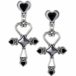 Amourankh Earrings Pewter Alchemy E354