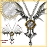 Steampunk Icarus Ex Machina Necklace Pewter Alchemy P556