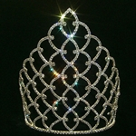 Traditional Rhinestone Crown - Silver 10in