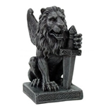 Lion with Sword Gargoyle