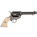 Old West Peacemaker Replica Grey Finish, Ivory Grips 1873 Non-Firing