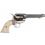 Old West Peacemaker Replica Nickel Finish, Ivory Grips 1873 Non-Firing