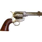 Colt 45 Peacemaker M1873 Nickel Finish Revolver Non Firing Replica,Colt 45 Peacemaker M1873 Nickel Finish Revolver Non Firing FD1186NQ