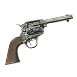 Cowboy Revolver Engraved Wooden Grip, Iron Non Firing FP10207
