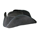 Blackbeard Leather Tricorn Pirate Hat