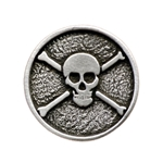 Jolly Roger Pirate Button 107.1045