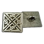 Square Celtic Knot Button 107.1230