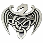 Celtic Dragon Pewter Brooch 106.1406
