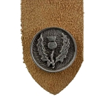 Pewter Scottish Thistle Leather Bookmark 103.1428