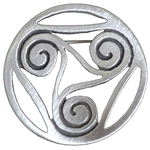 Celtic Spirals Pewter Brooch 106.0679