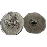 Pegasus Pewter Button 107.0692