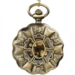 Antiqued Floral Pocket Watch or Pendant