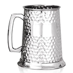 Full Hammered One Pint Pewter Tankard