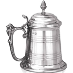 Extra Heavy Gauge Mountbatten One Pint Pewter Tankard