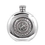 Scottish Lion Badge Pewter Flask 6 Ounces