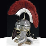 Roman Gallic Helmet with Red Crest