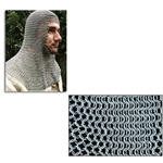 Chainmail Coif Butted Mild Steel Rings Code 10 AB2562