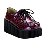Creeper Pearlized Cheetah Platform Shoes 34-3037