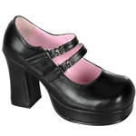 Gothika Double Buckle Mary Jane Platform Shoes 34-3098