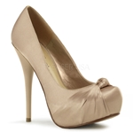 Gorgeous Satin Round Toe Pumps
