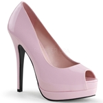 Bella Platform Peep Toe Pumps