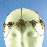 Antique Brass Chainmail Headpiece 37-4124