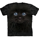 Black Kitten Face Youth's Tee Shirt  43-1535030
