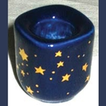 Blue Ceramic Starry Chime Candle Holder 45-CH40BS