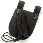 Medieval Sword Frog - Leather Sword Holder Large Black Right