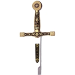 Miniature Damascene Excalibur Sword Letter Opener by Marto of Toledo Spain MA5501-2S