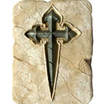 Wall Tile with Templar Cross of Santiago by Marto