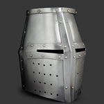 Medieval Topfhelm from 16ga steel in Large size