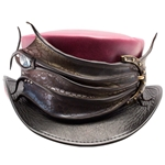 Dragon's Eye Leather Top Hat
