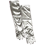 Silver Lamé Adult Gloves  100-179572