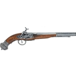 19th Century (Russian) Flintlock Pistol Gray Finish - Non-Firing Replica