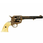 Colt 45 Peacemaker Engraved Model Non Firing Revolver FD1281L