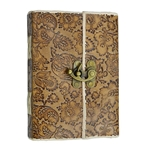 Leather Bound Journal - Blank Book - 7 X 5 Inches