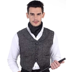 Plus Size Victorian Waistcoat in Charcoal