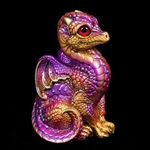 Baby Dragon Violet Flame Statue