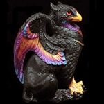 Male Griffin Sculpture Black Sunset