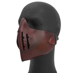 Leather Mempo Mask Red