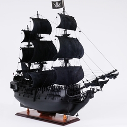 Black Pearl Pirate Ship - 35 inch Wooden Scale Model